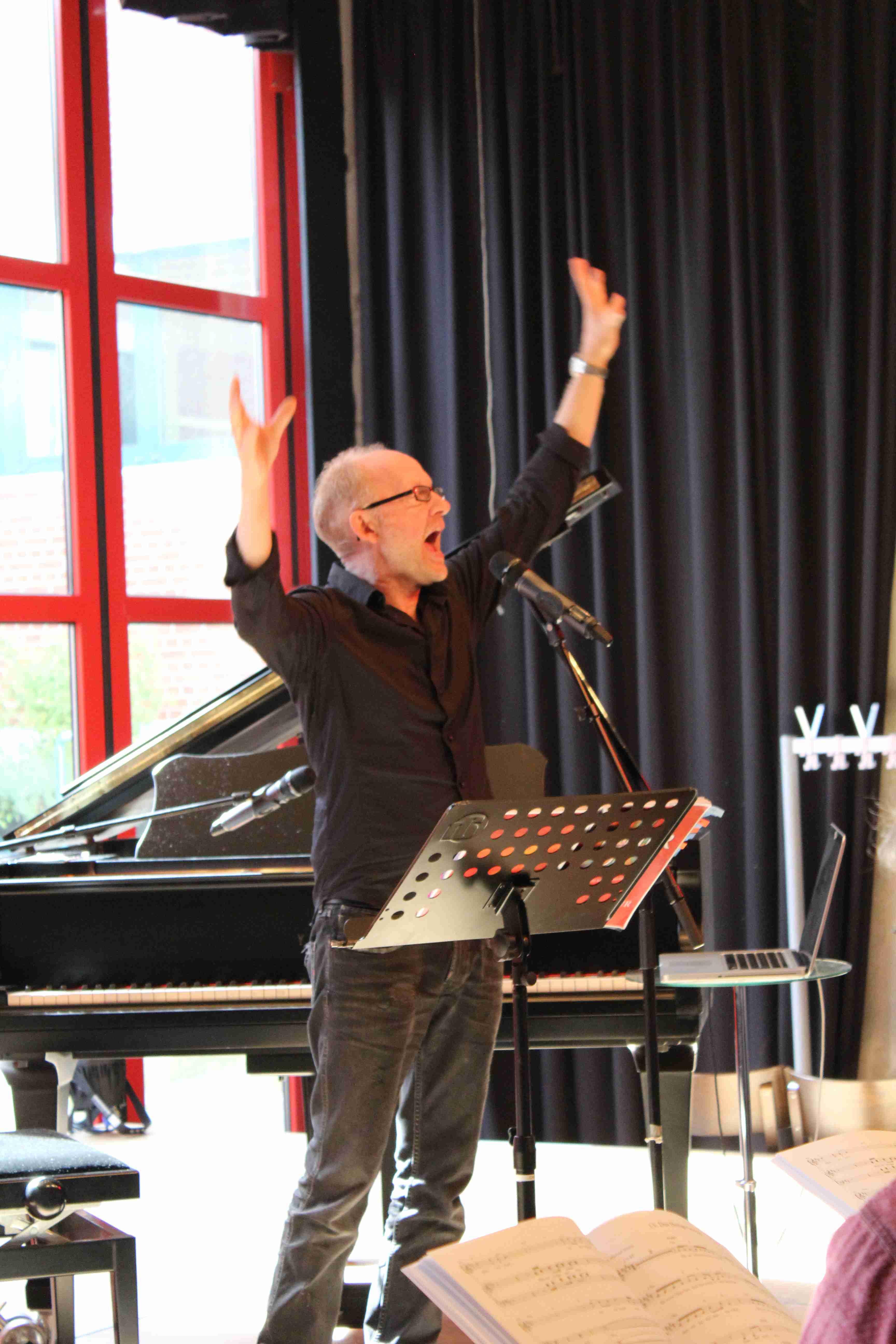 Dieter Falk bei der Chorleiterschulung in Düsseldorf