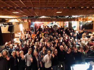 Gruppenbild Chorleiterschulung Bethlehem mit Dieter Falk März 2020, Quelle: MAWI Concert